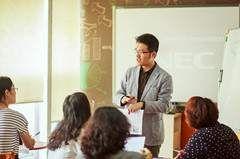 泉州美联英语培训中心  老师授课