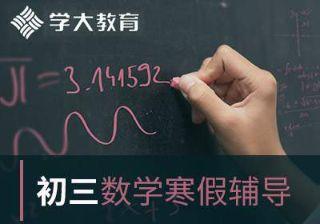 初三数学寒辅导课程