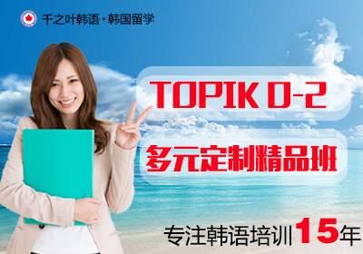 TOPIK0-2级多元定制精品班