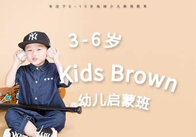 3-6岁英语启蒙班课程KidsBrown