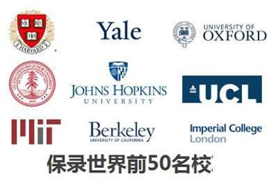 世界TOP50名校(录取/成绩中等以上/海外持续全程服务)