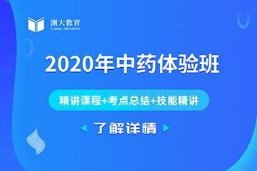 2020年执业药师中药名师导航班