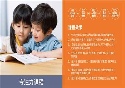 天津幼儿专注力课程培训