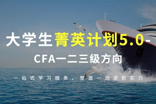 大学生培训课程CFA一二三级方向